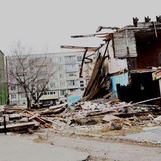 Снос аварийных домов в Уссурийском городском округе продолжается