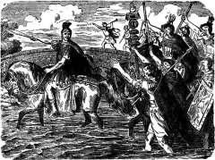 10 января Гай Юлий Цезарь пересек Рубикон