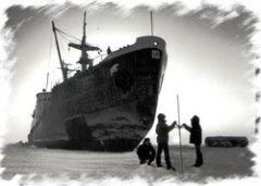 13 января Завершился героический дрейф в полярных льдах Арктики ледокола «Георгий Седов»