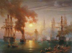 30 ноября Русский флот под командованием адмирала Нахимова одержал блестящую победу над турецким флотом у мыса Синоп