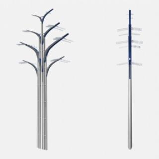 Опоры ЛЭП в форме деревьев установили на Калужском шоссе