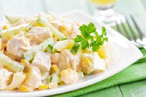 Салат из ананаса и курицы
