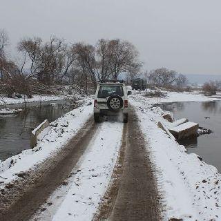 Временный надежный мост в селе Кроуновка будет построен до конца ноября