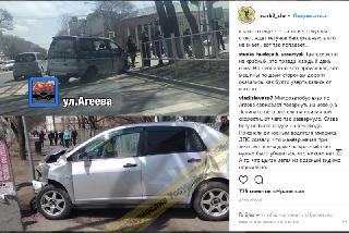 В ДТП на перекрестке улиц Лермонтова и Агеева только благодаря счастливой случайности не пострадали пешеходы-школьники