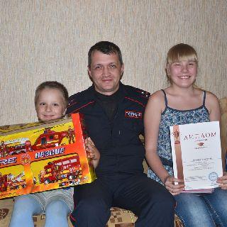 Детей полицейского, героически погибшего при выполнении долга, не забыли