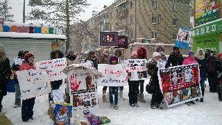 Непогода не помешала уссурийским зоозащитникам выйти на пикет