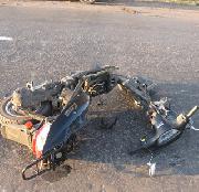 Опрокидывание мопеда произошло вчера вечером в Уссурийске