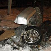 Первый крупный снегопад в Уссурийске закончился серьезной аварией (13 фотографий)