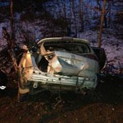 Три человека погибли и два пострадали в автокатастрофе в Приморье (3 фотографии)
