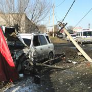 Страшная авария в Уссурийске чудом обошлась без жертв (2 фотографии)