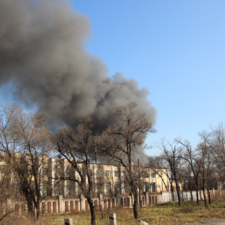 Уссурийский танковый завод горел сегодня