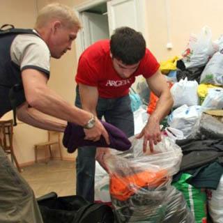 Груз с гуманитарной помощью из Находки доставили в Уссурийск
