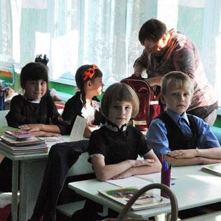 Все школьники из села Кроуновка сели за парты