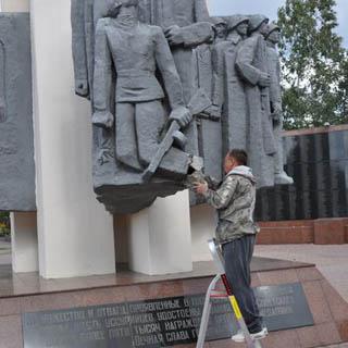 Реставрационные работы на мемориале у Вечного огня будут окончены 29 сентября