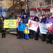 В Уссурийске прошла акция в память жертвам ДТП (3 фотографии)