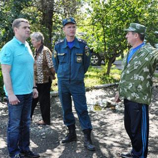 Евгений Корж побывал в селах, наиболее пострадавших от паводка