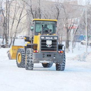 В Уссурийске идёт борьба со снегом